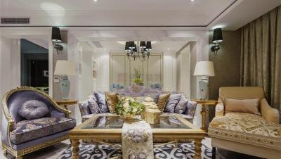 怡河园 / 欧式古典风格 / 180平米装修案例