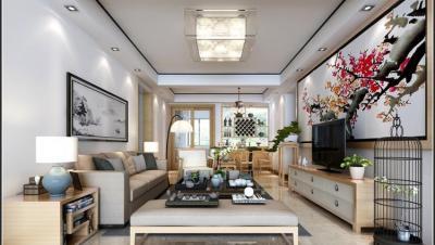 宝电馨城 / 新中式风格 / 142平米装修案例