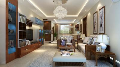 香博堡国际 / 新中式风格 / 106平米装修案例
