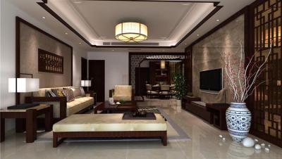 金地明珠 / 新中式风格 / 118平米装修案例