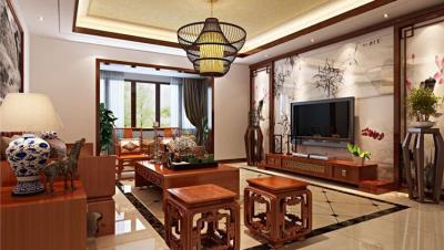 京都世纪城 / 新中式风格 / 241平米装修案例