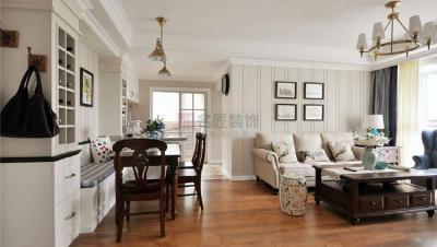 海盟潇湘豪庭 / 美式风格 / 131平米装修案例