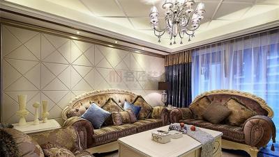 大汉龙城 / 欧式古典风格 / 100平米装修案例