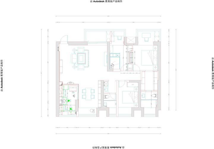 金地明珠 / 欧式风格 / 118平米