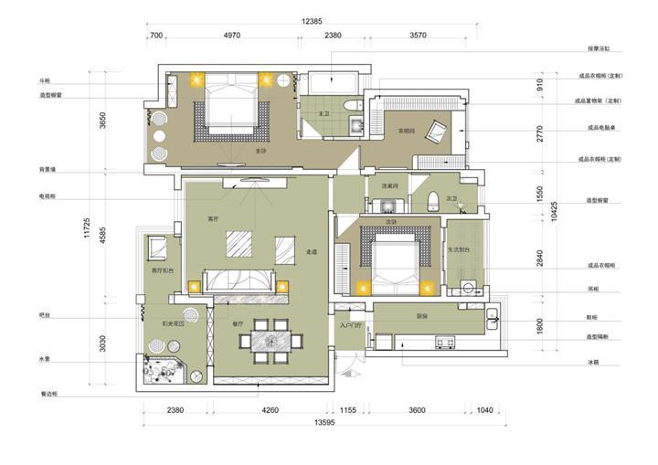 大汉新城 / 欧式风格 / 140平米