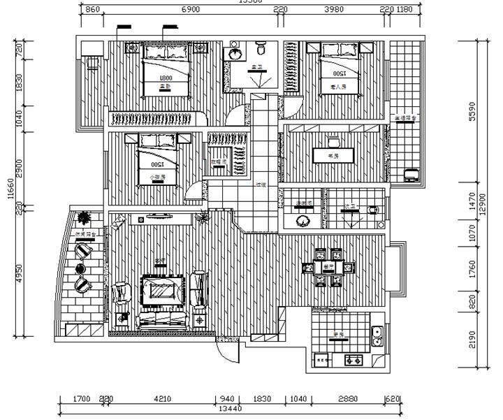 首府印象 / 后现代风格 / 111平米
