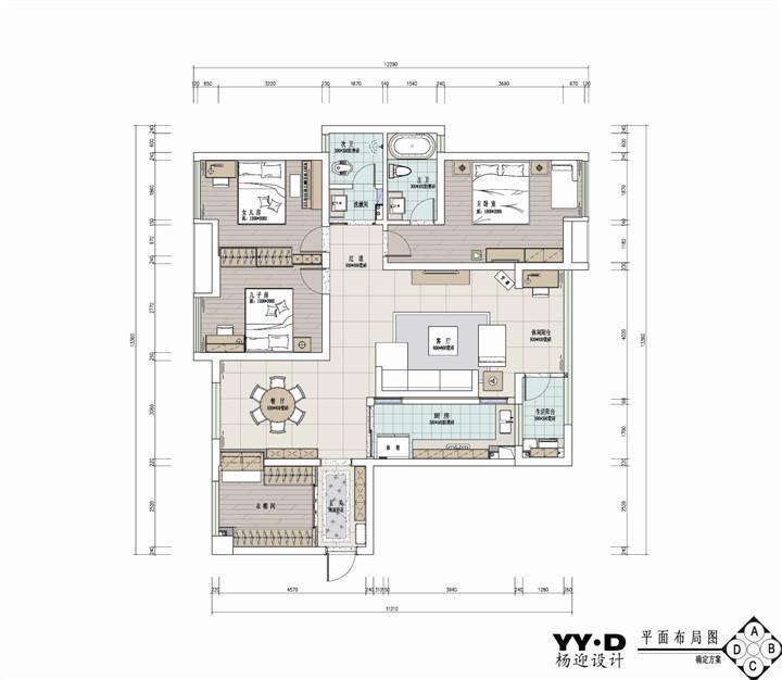 裕隆国际 / 简欧风格 / 136平米