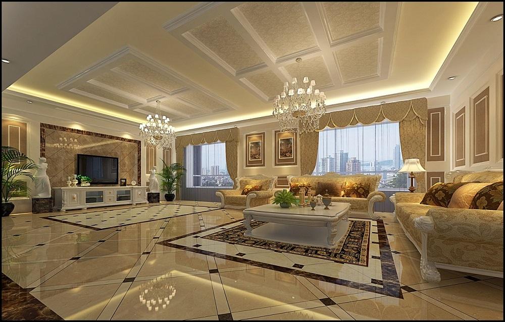 金色比华利 / 西欧风格 / 250平米装修案例
