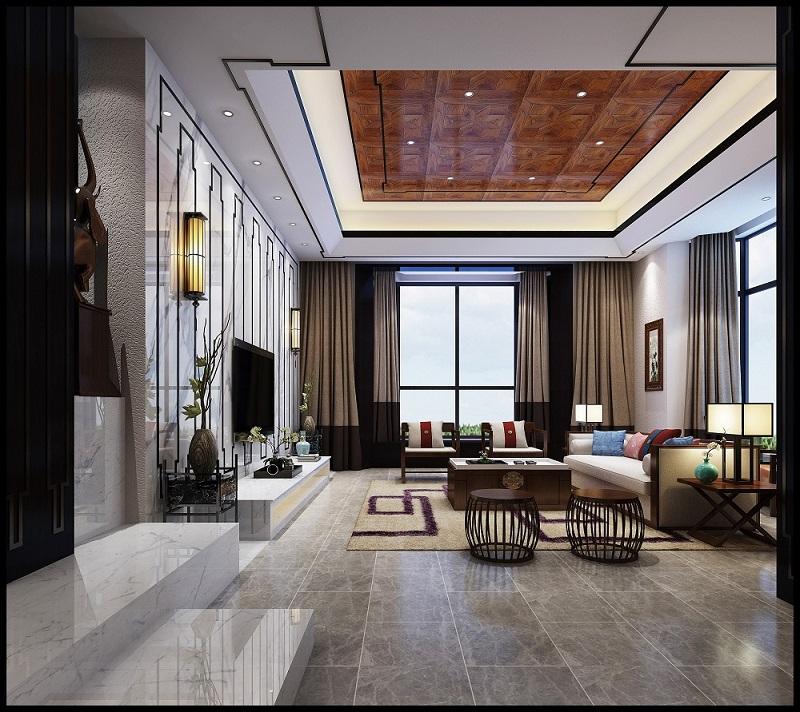 碧桂园天玺湾 / 新中式风格 / 290平米装修案例