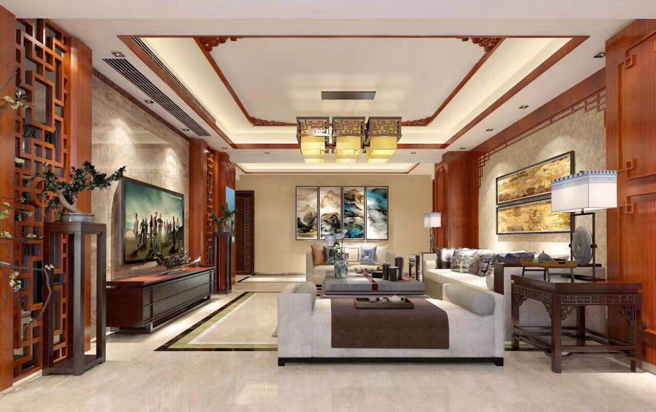 德皇小区 / 新中式风格 / 127平米装修案例