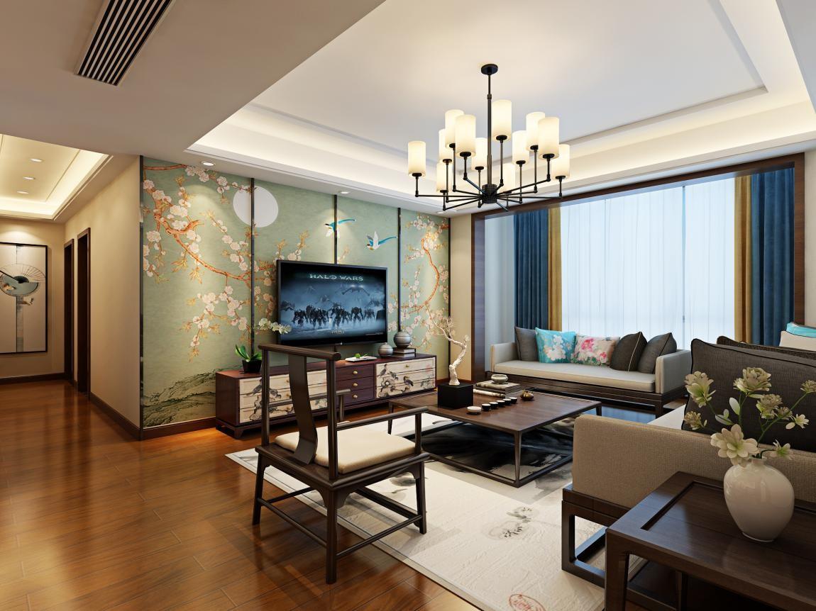 红都华庭 / 新中式风格 / 150平米装修案例