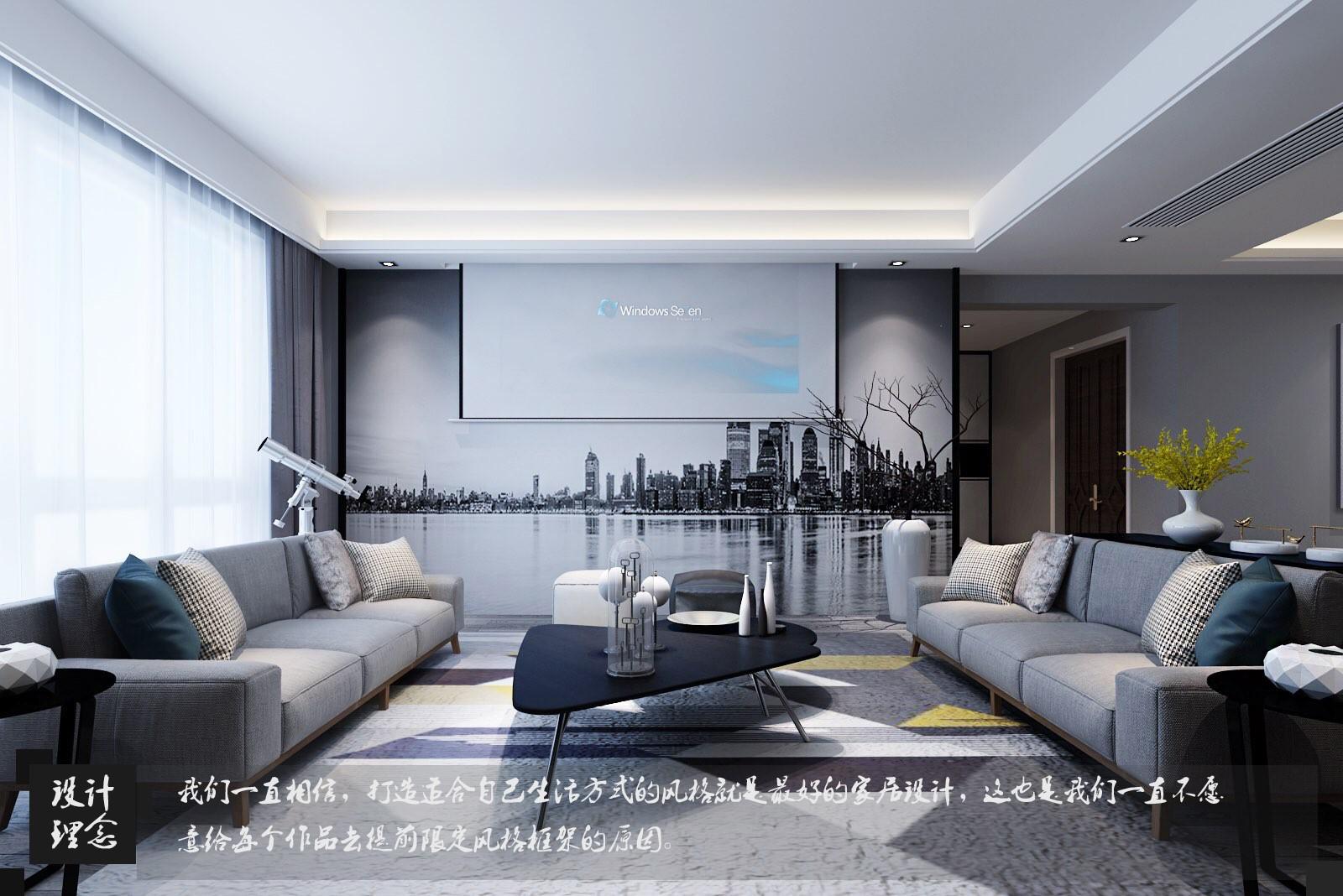 德景园 / 现代简约风格 / 127平米装修案例