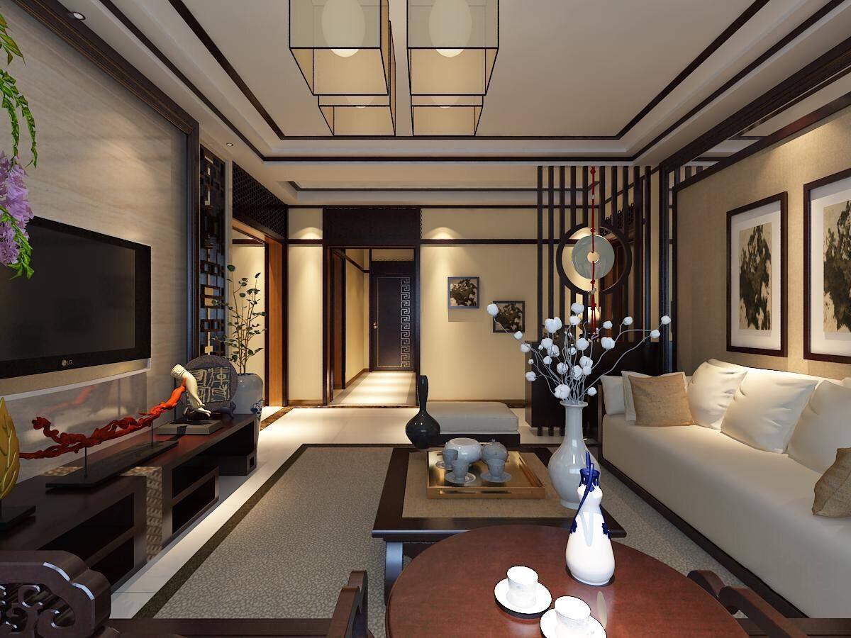星合湘水湾 / 新中式风格 / 127平米装修案例