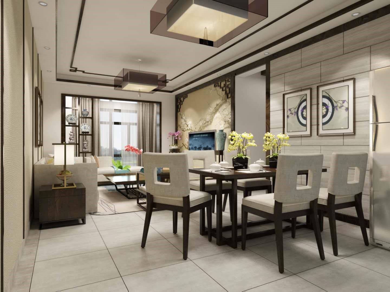 奥园广场 / 新中式风格 / 124平米装修案例