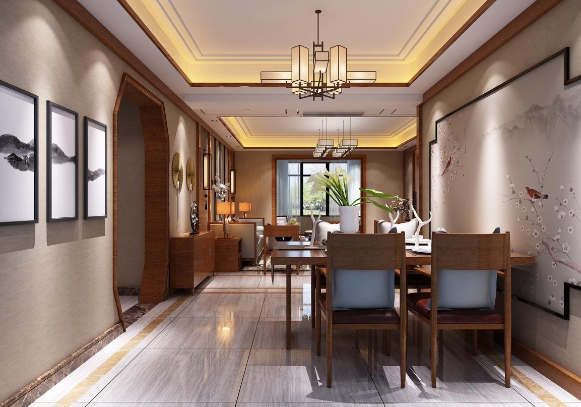 九八·缔景城 / 新中式风格 / 138平米装修案例
