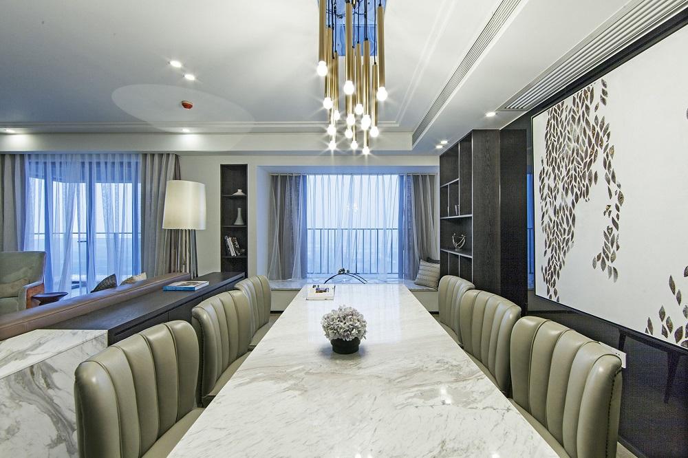 鹏信·世纪城 / 现代简约风格 / 143平米装修案例