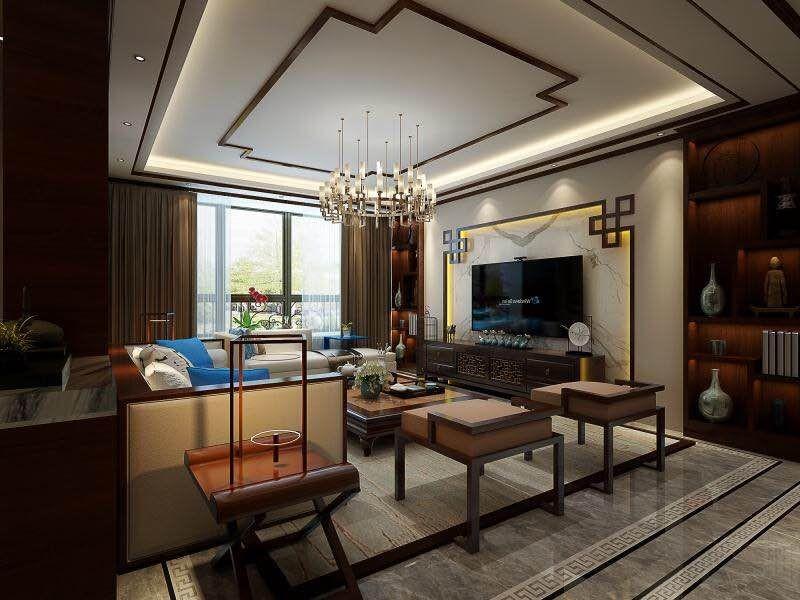 华盛世纪新城 / 新中式风格 / 140平米装修案例