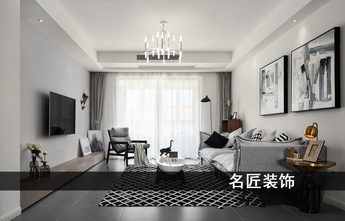 盛世华庭 / 现代简约风格 / 126平米