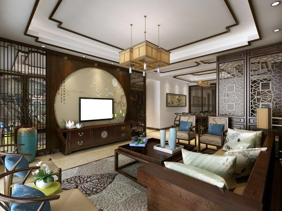 大汉龙城 / 新中式风格 / 125平米装修案例