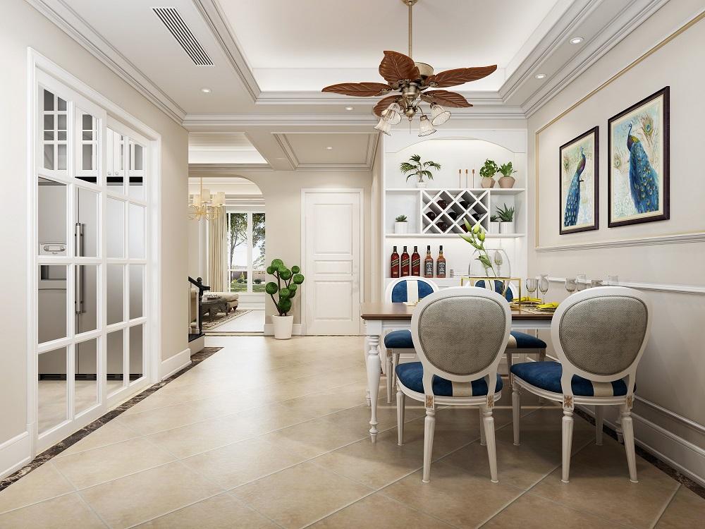 澳海澜庭 / 美式风格 / 160平米装修案例