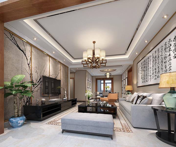 名家翡翠花园 / 新中式风格 / 276平米装修案例