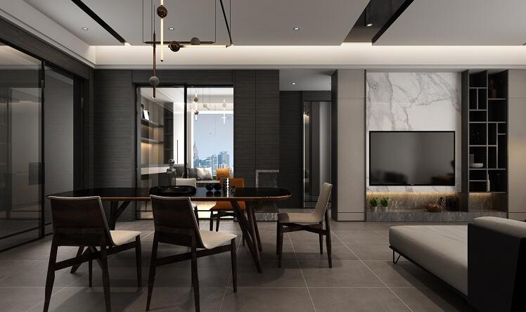 輝煌國際城 / 現代簡約風格 / 124平米裝修案例