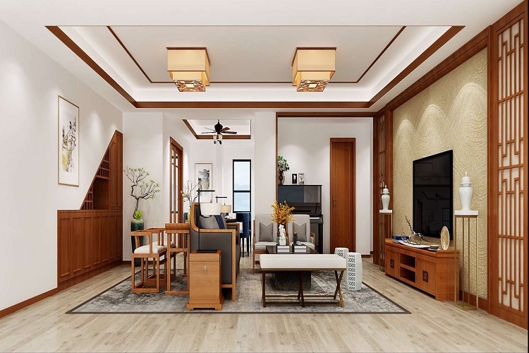北辰三角洲 / 新中式風格 / 135平米裝修案例