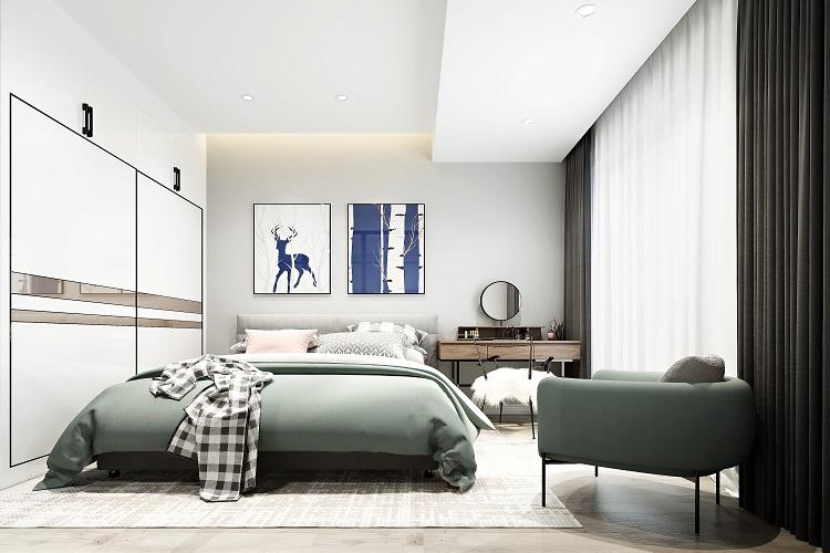绿地中心 / 现代简约风格 / 126平米装修案例