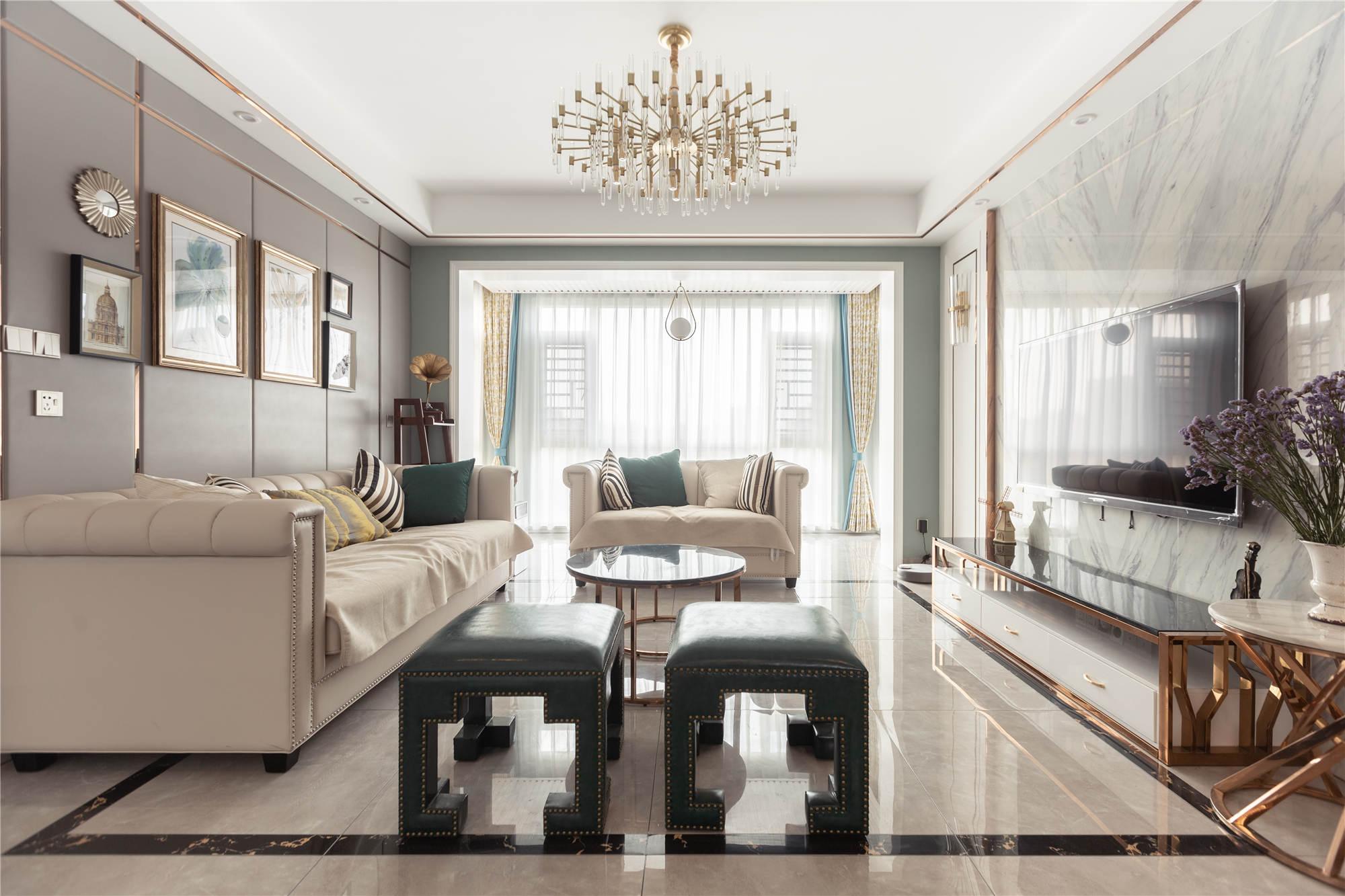 大汉龙苑 / 美式风格 / 130平米装修案例