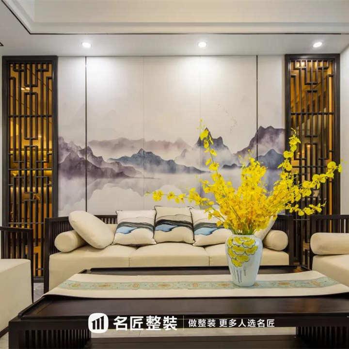 名匠整装【生活美学】125㎡新中式丨居所之内,也有烟雨江南。